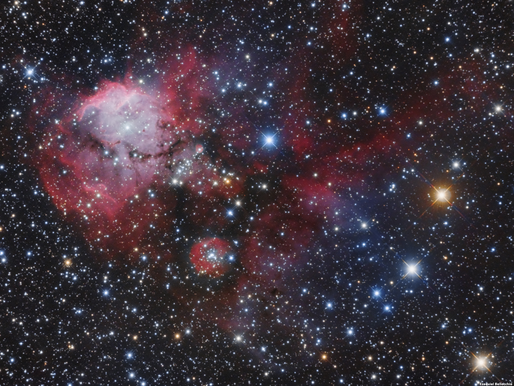 APOD: 2005 January 31 - NGC 2467: From Gas to Stars